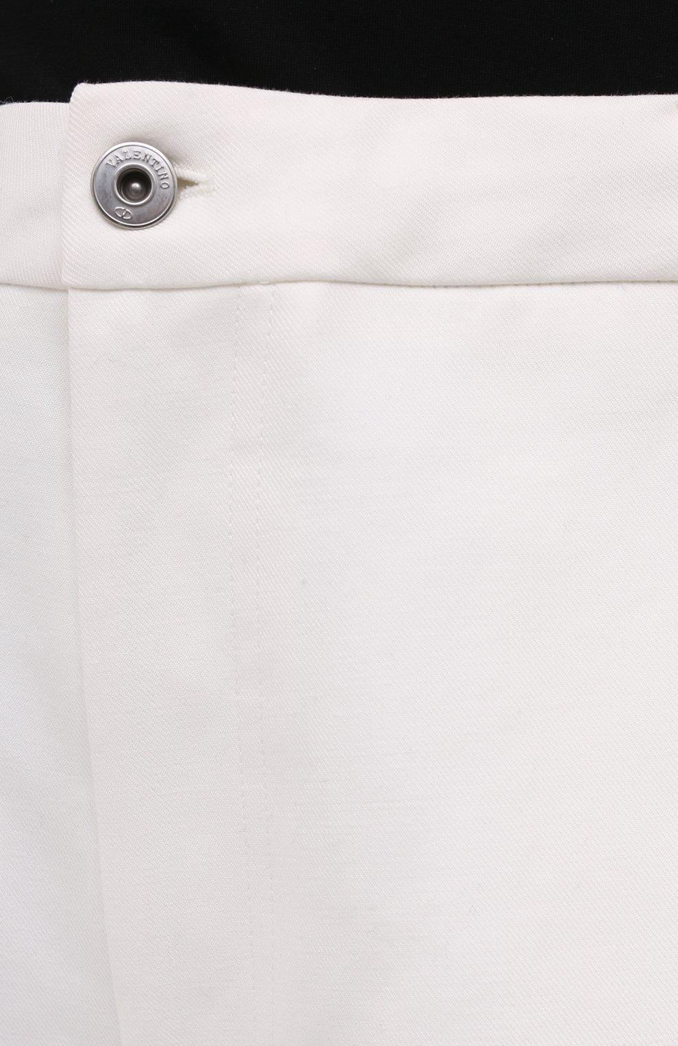 Мужские хлопковые шорты VALENTINO белого цвета, арт. VV3RDB2075Y | Фото 5