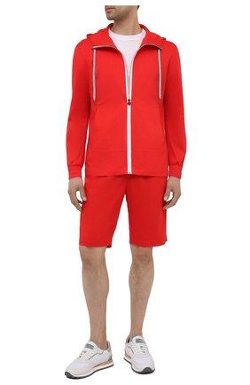 Мужской хлопковый спортивный костюм KITON красного цвета, арт. UMTCGYMH07715 | Фото 1 (Кросс-КТ: Спорт; Материал внешний: Хлопок; Рукава: Длинные)