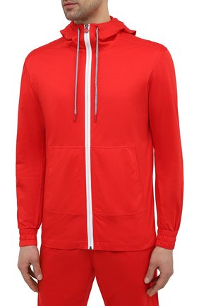 Мужской хлопковый спортивный костюм KITON красного цвета, арт. UMTCGYMH07715 | Фото 2 (Кросс-КТ: Спорт; Материал внешний: Хлопок; Рукава: Длинные)