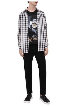 Мужская хлопковая футболка DIEGO VENTURINO черного цвета, арт. SS21-DV TS0 JHM | Фото 2