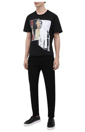 Мужская хлопковая футболка DIEGO VENTURINO черного цвета, арт. SS21-DV TS0 QEF | Фото 2