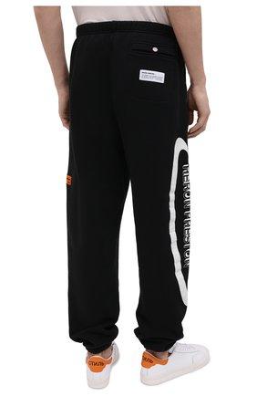 Мужские хлопковые джоггеры HERON PRESTON черно-белого цвета, арт. HMCH014R21JER0011001 | Фото 4