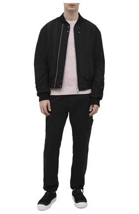 Мужской хлопковый свитер STONE ISLAND светло-розового цвета, арт. 7415507B1 | Фото 2