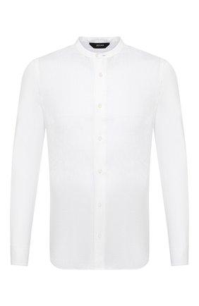 Мужская льняная рубашка Z ZEGNA белого цвета, арт. 905400/ZCSG1   Фото 1