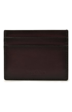 Мужской кожаный футляр для кредитных карт ERMENEGILDO ZEGNA бордового цвета, арт. E1139W-LHC0R | Фото 1