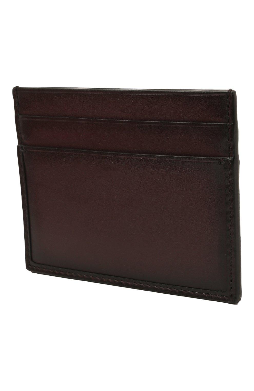 Мужской кожаный футляр для кредитных карт ERMENEGILDO ZEGNA бордового цвета, арт. E1139W-LHC0R | Фото 2