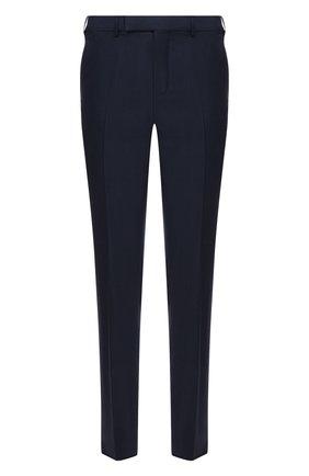 Мужские шерстяные брюки ERMENEGILDO ZEGNA синего цвета, арт. 940F05/75TB12 | Фото 1