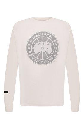 Мужской шерстяной джемпер CANADA GOOSE белого цвета, арт. 8807MC | Фото 1