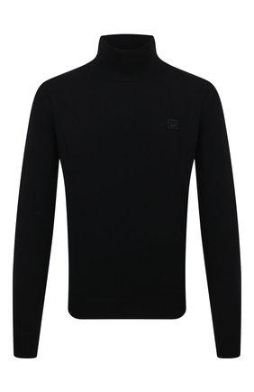Мужской шерстяной свитер ACNE STUDIOS черного цвета, арт. C60029/M | Фото 1