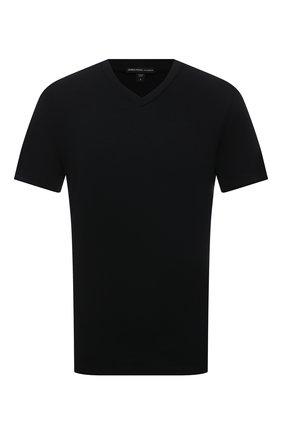 Мужская хлопковая футболка JAMES PERSE черного цвета, арт. MELJ3248 | Фото 1