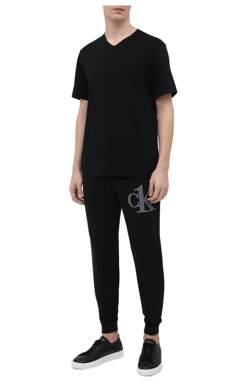 Мужская хлопковая футболка JAMES PERSE черного цвета, арт. MELJ3248 | Фото 2 (Принт: Без принта; Рукава: Короткие; Длина (для топов): Стандартные; Материал внешний: Хлопок; Стили: Кэжуэл)
