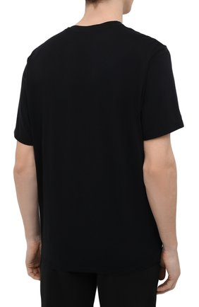 Мужская хлопковая футболка JAMES PERSE черного цвета, арт. MELJ3248 | Фото 4 (Принт: Без принта; Рукава: Короткие; Длина (для топов): Стандартные; Материал внешний: Хлопок; Стили: Кэжуэл)