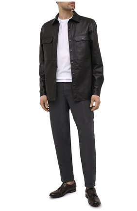 Мужские кожаные дерби PANTANETTI коричневого цвета, арт. 14490E/LEGACY   Фото 2