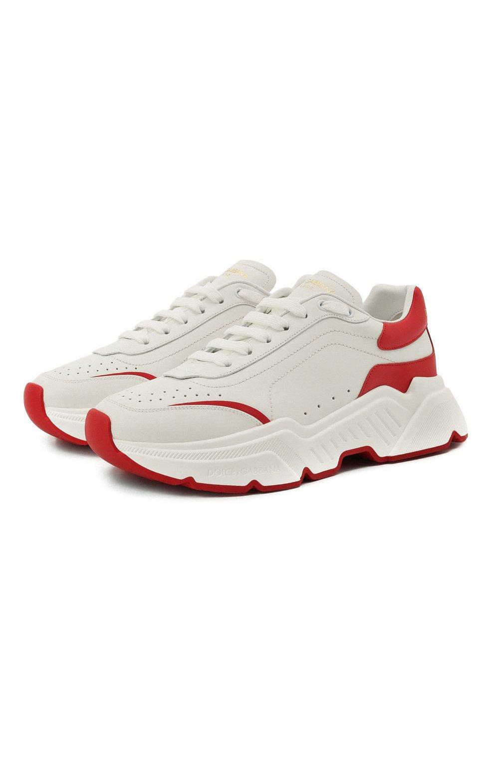 Мужские кожаные кроссовки daymaster DOLCE & GABBANA красного цвета, арт. CS1791/AX589 | Фото 1