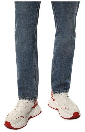 Мужские кожаные кроссовки daymaster DOLCE & GABBANA красного цвета, арт. CS1791/AX589 | Фото 3
