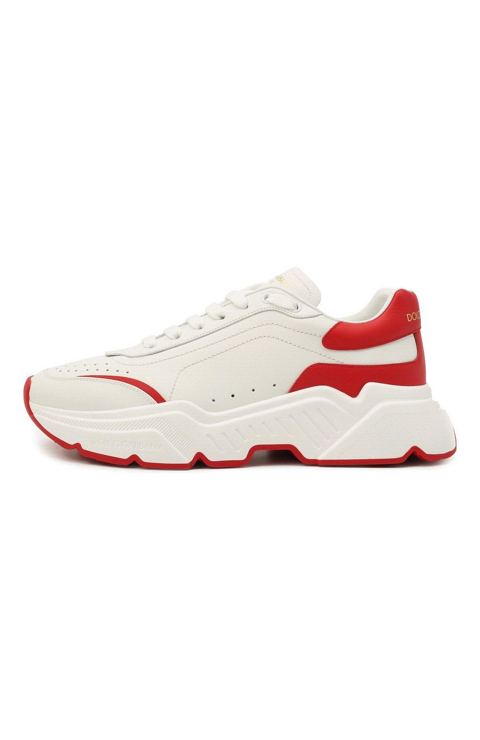 Мужские кожаные кроссовки daymaster DOLCE & GABBANA красного цвета, арт. CS1791/AX589 | Фото 4
