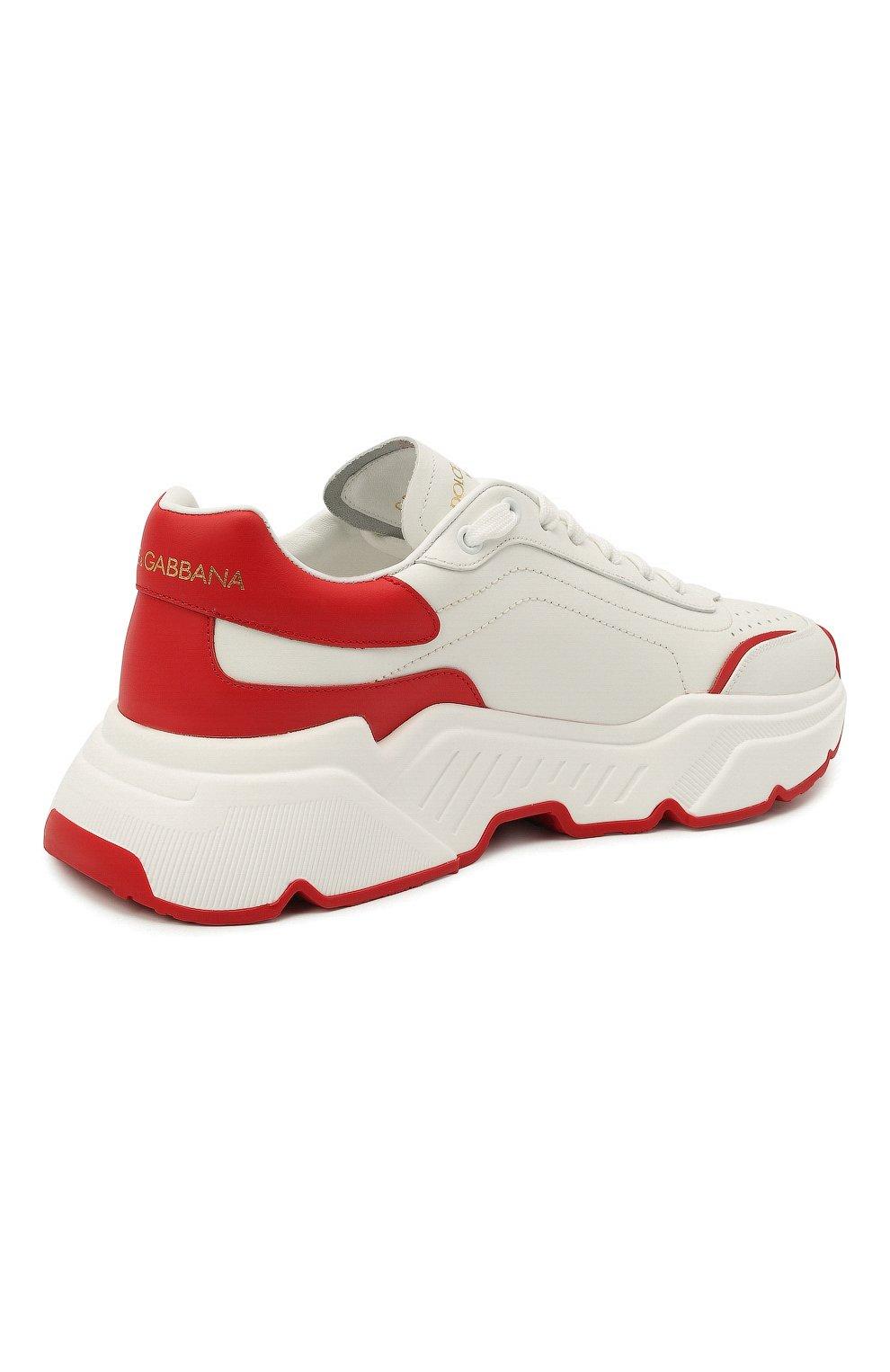 Мужские кожаные кроссовки daymaster DOLCE & GABBANA красного цвета, арт. CS1791/AX589 | Фото 5