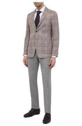 Мужские кожаные дерби H`D`S`N BARACCO темно-коричневого цвета, арт. 66206.7* | Фото 2 (Мужское Кросс-КТ: Броги-обувь; Стили: Классический; Материал внутренний: Натуральная кожа)