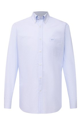 Мужская хлопковая рубашка PAUL&SHARK голубого цвета, арт. 21413266/C00 | Фото 1