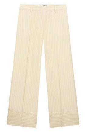 Детские шелковые брюки LORO PIANA желтого цвета, арт. FAL5091 | Фото 1 (Материал внешний: Шелк; Девочки Кросс-КТ: Брюки-одежда; Ростовка одежда: 10 - 11 лет | 140 - 146см, 12 лет | 152 см, 4 года | 104 см, 6 лет | 116 см, 8 лет | 128 см)