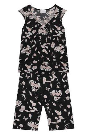Детская пижама LA PERLA черно-белого цвета, арт. 70191/2A-6A | Фото 1
