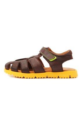 Детские кожаные сандалии RONDINELLA коричневого цвета, арт. 0824-1/4537/28-30 | Фото 2
