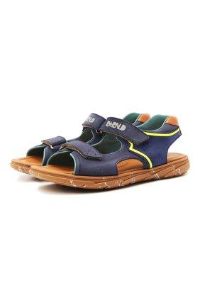 Детские кожаные сандалии RONDINELLA синего цвета, арт. 0917-1/5053/37-39 | Фото 1