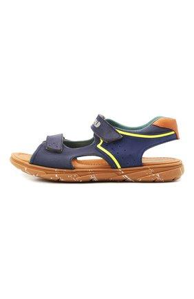 Детские кожаные сандалии RONDINELLA синего цвета, арт. 0917-1/5053/37-39 | Фото 2