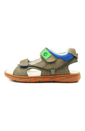 Детские кожаные сандалии RONDINELLA хаки цвета, арт. 0986/6395/28-30 | Фото 2