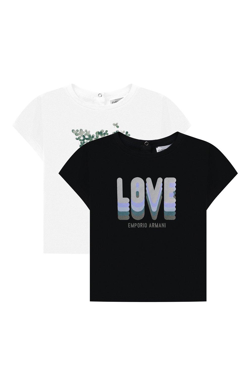 Детский комплект из двух футболок EMPORIO ARMANI темно-синего цвета, арт. 3KED01/3J2IZ | Фото 1