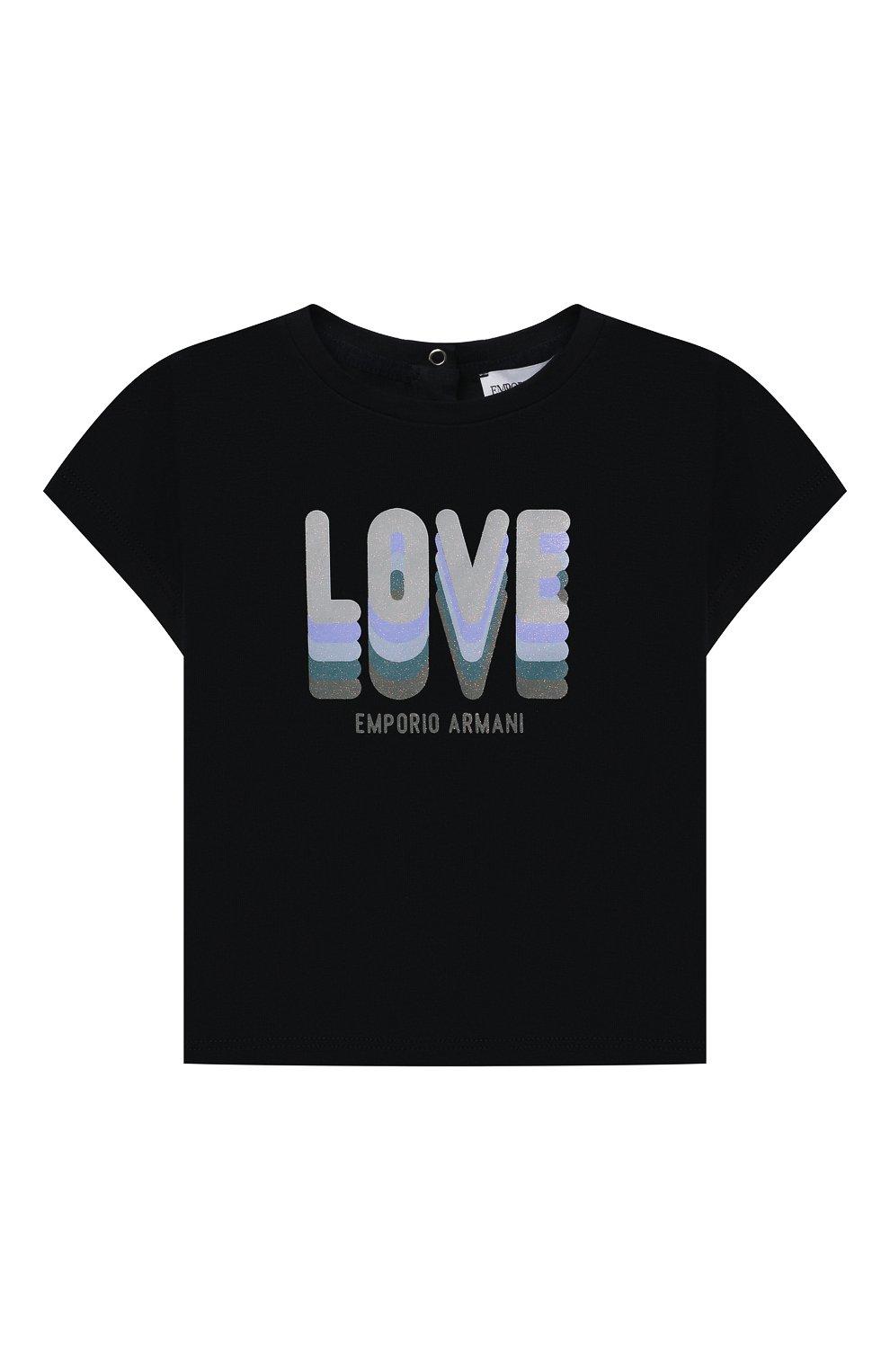 Детский комплект из двух футболок EMPORIO ARMANI темно-синего цвета, арт. 3KED01/3J2IZ | Фото 2