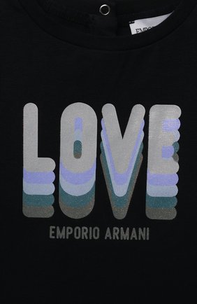 Детский комплект из двух футболок EMPORIO ARMANI темно-синего цвета, арт. 3KED01/3J2IZ | Фото 4