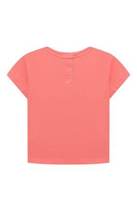 Детский комплект из двух футболок EMPORIO ARMANI кораллового цвета, арт. 3KED01/3J2IZ | Фото 3