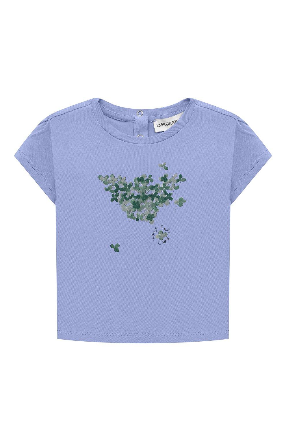 Детский комплект из двух футболок EMPORIO ARMANI кораллового цвета, арт. 3KED01/3J2IZ | Фото 5
