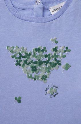 Детский комплект из двух футболок EMPORIO ARMANI кораллового цвета, арт. 3KED01/3J2IZ | Фото 7