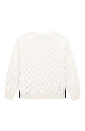 Детский хлопковый пуловер EMPORIO ARMANI белого цвета, арт. 3K4MXD/4M17Z | Фото 2