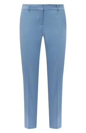 Женские хлопковые брюки BOSS голубого цвета, арт. 50448900 | Фото 1