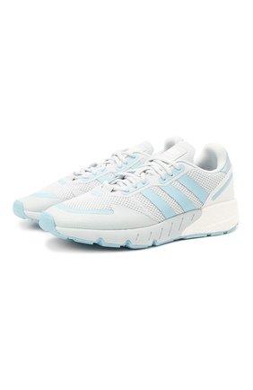 Женские комбинированные кроссовки zx 1k boost ADIDAS ORIGINALS голубого цвета, арт. FY3630 | Фото 1