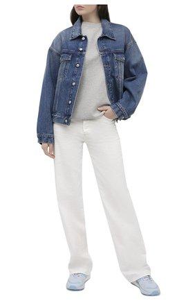Женские комбинированные кроссовки zx 1k boost ADIDAS ORIGINALS голубого цвета, арт. FY3630 | Фото 2
