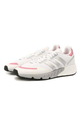 Женские комбинированные кроссовки zx 1k boost ADIDAS ORIGINALS белого цвета, арт. FY5654 | Фото 1