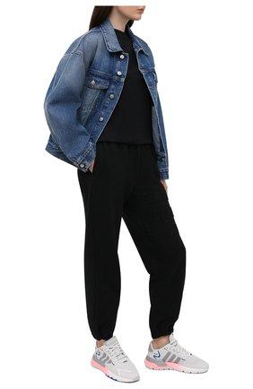 Женские комбинированные кроссовки nite jogger ADIDAS ORIGINALS серого цвета, арт. FY5748 | Фото 2
