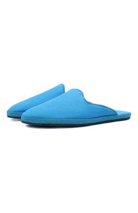 Женского домашние текстильные туфли LORO PIANA синего цвета, арт. FAL1194 | Фото 1