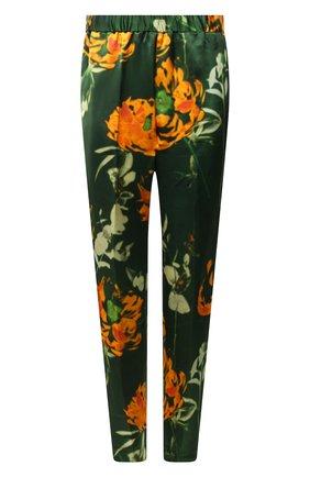 Женские брюки из вискозы и шелка DRIES VAN NOTEN зеленого цвета, арт. 211-30909-2089 | Фото 1