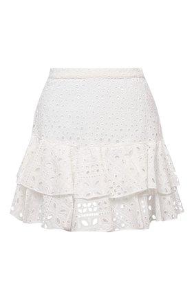 Женская хлопковая юбка CHARO RUIZ IBIZA белого цвета, арт. 213401 | Фото 1