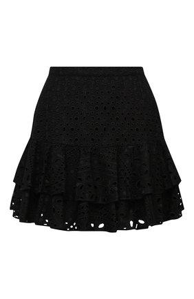 Женская хлопковая юбка CHARO RUIZ IBIZA черного цвета, арт. 213401 | Фото 1