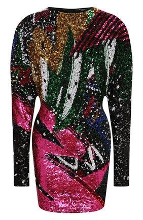 Женское платье с пайетками BALMAIN разноцветного цвета, арт. VF16267/P064 | Фото 1
