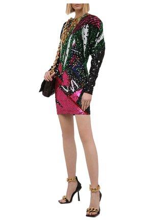 Женское платье с пайетками BALMAIN разноцветного цвета, арт. VF16267/P064 | Фото 2