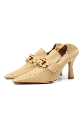 Женские кожаные туфли the madame BOTTEGA VENETA бежевого цвета, арт. 651359/VBP10 | Фото 1