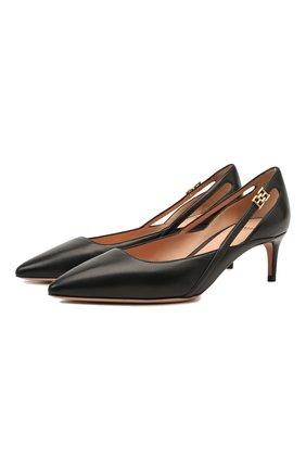 Женские кожаные туфли elsa 55 BALLY черного цвета, арт. ELSA 55/00 | Фото 1