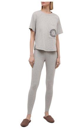 Женская хлопковая футболка CALVIN KLEIN серого цвета, арт. QS6601E | Фото 2